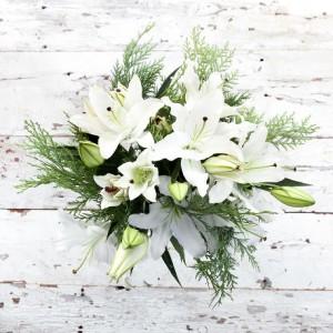 Winter Cheerfulness European Hand Tied Cut Bouquet (no vase)