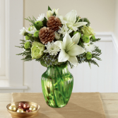 The FTD Holiday Cheers Bouquet Vased Arrangement