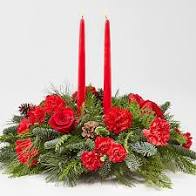 HOLIDAY CLASSIC CENTERPIECE RED BLOOMS TABLE CENTERPIECE