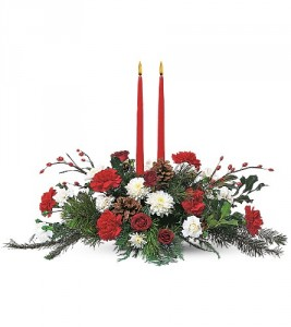 Holiday Delight 2 candle centerpiece TF85-3 Christmas in Hesperia ...