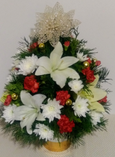 Holiday Delight Mini Christmas Tree Centerpiece