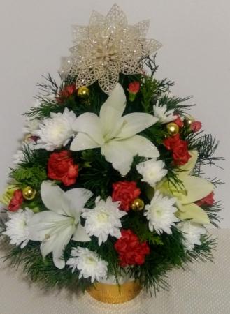 Holiday Delight Mini Christmas Tree Centerpiece