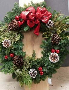 Holiday Door Wreath Christmas Wreath in Barre, VT | Forget Me Not Flowers and Gifts LLC