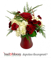 Holiday Elegance Bud & Bloom Signature Arrangement