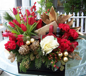Holiday Elegance  Gift Arrangement  in Oakville, ON | ANN'S FLOWER BOUTIQUE-Wedding & Event Florist