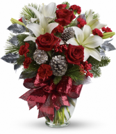 Holiday Enchantment Bouquet All-Around Floral Arrangement