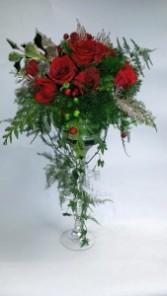 Holiday Extravagance! Pedestal arrangement