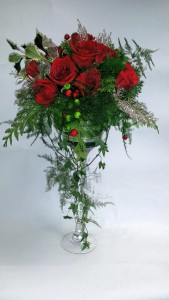 Holiday Extravagance! Pedestal arrangement