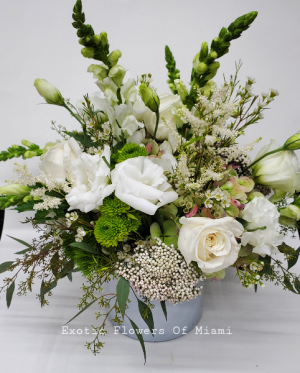 Holiday extravaganza vase Arrangement in Miami, FL | EXOTIC FLOWERS OF MIAMI