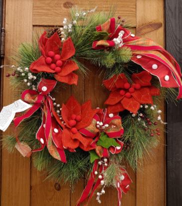 Holiday Festival Wreath Silk Wreath
