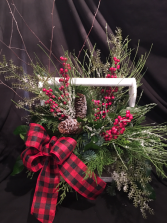 Holiday Flannel Arrangment  Christmas