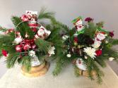 Holiday Flower & Treat Basket