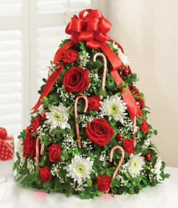 HOLIDAY FLOWER TREE GFFG Arrangement in Greers Ferry, AR | GREERS FERRY FLORIST & GIFTS