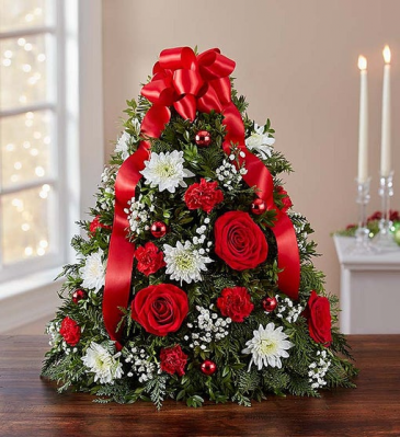 Holiday Flower Tree® centerpiece arrangement