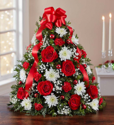 Holiday Flower Tree Container
