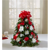 Holiday Flower Tree Holiday Floral Arrangement
