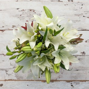 Holiday Charm Bouquet European Hand Tied Cut Bouquet (no vase)