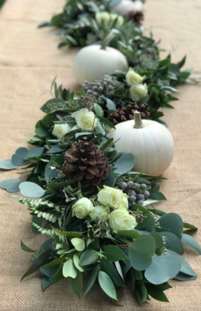Holiday Garland - neutral colors Centerpiece