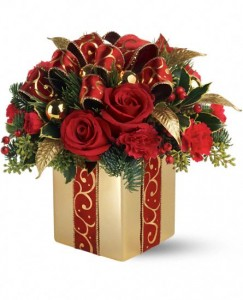 Holiday Gift Bouquet Christmas Arrangement in Burbank, CA | MY BELLA FLOWER