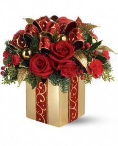 holiday gift bouquet christmas arrangement in burbank ca my bella