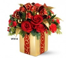Holiday Gift Bouquet Christmas Flowers