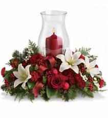 Holiday Glow Centerpeice Fresh Arrangement
