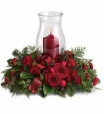 Holiday Glow Centerpiece floral arrangement