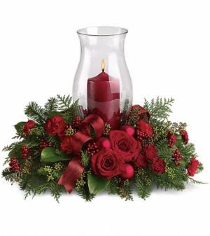 Holiday Glow Centrepiece  in Oakville, ON | ANN'S FLOWER BOUTIQUE-Wedding & Event Florist