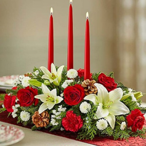 Holiday Glow Christmas Arrangement in Jacksonville, AR | DOUBLE R FLORIST