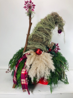 Holiday Gnome  Creative Arrangement  in North Bend, OR | PETAL TO THE METAL FLOWERS