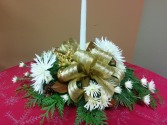 Holiday gold Centerpiece