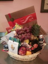 Holiday Gourmet and Fruit Basket Gift basket