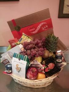 Holiday Gourmet and Fruit Basket Gift basket