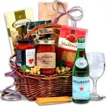 Holiday Gourmet Baskets from Roma florist