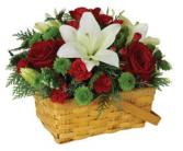 Holiday Greetings Basket Arrangement