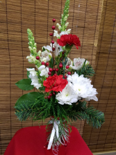 Holiday Greetings Vase