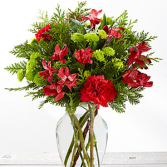 Holiday Happenings Bouquet Holiday Floral Arrangement