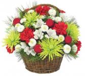 Holiday Happiness Basket Arrangement