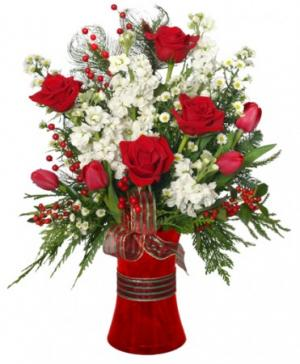 HOLIDAY HAPPINESS Christmas Arrangement in Canon City, CO | TOUCH OF LOVE FLORIST AND WEDDINGS