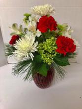 Holiday Hello Vase Arrangment