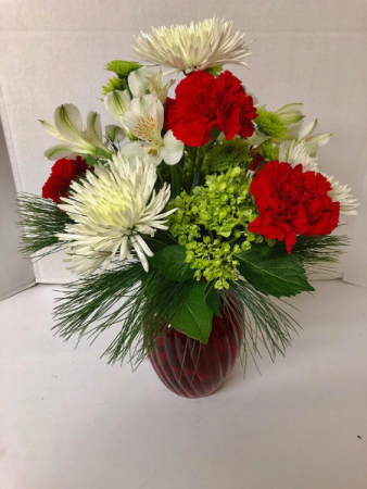 Holiday Hello Vase Arrangment