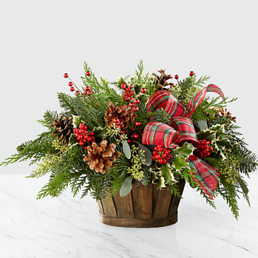 Holiday Homecomings Basket Basket Arrangement