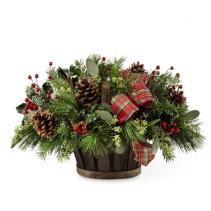 Holiday Homecomings Basket Christmas Arrangement