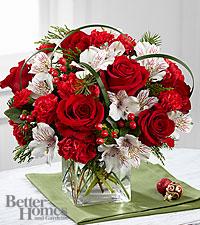 Holiday Hopes cube vase arrangement