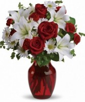 Holiday Hugs Flower Arrangement