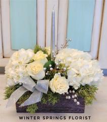 Holiday Hydrangea  Centerpiece