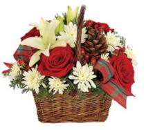Holiday Joy Basket Arrangement