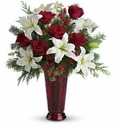 Holiday Magic  Vase Arrangment