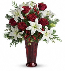 Holiday Magic  Vase Arrangment in Tyngsboro, MA | BLOSSOMS