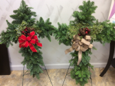 Holiday Memorial Crosses With Stand